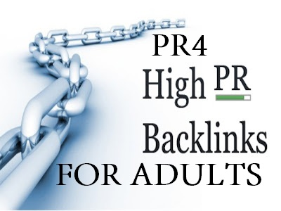Give you PR4 Adult Home Page Backlinks