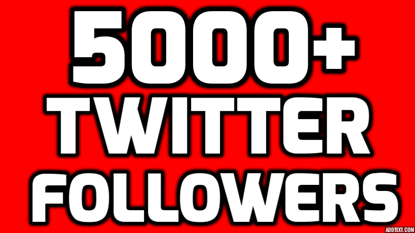 Provide Instantly 5000+ Permanent Twitter Followers Within 24 Hours Limited Time Offer For New Year 2017