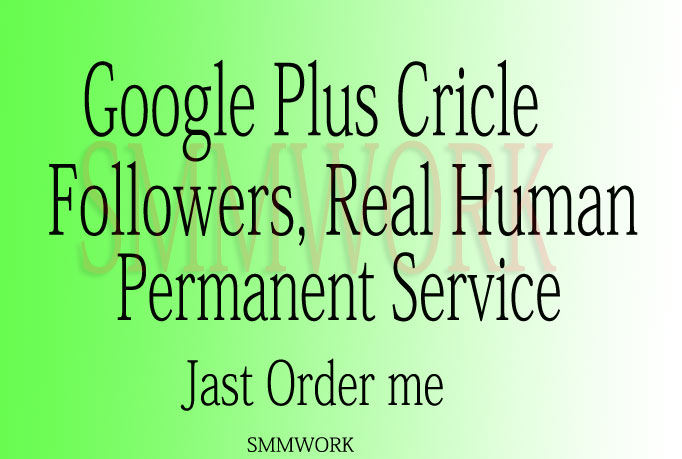 Provide U 450+ USA base Google Plus Circle Followers Only