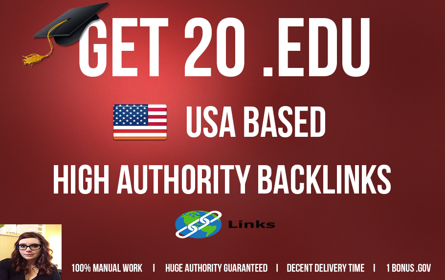 I will manually Do 20 USA Based Edu Backlinks Huge Authority