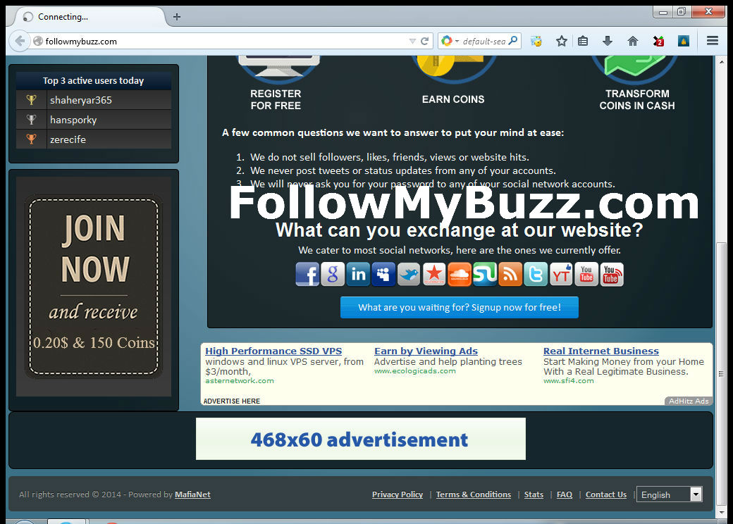 Place your Banner for 2 Months on FollowMyBuzz. com