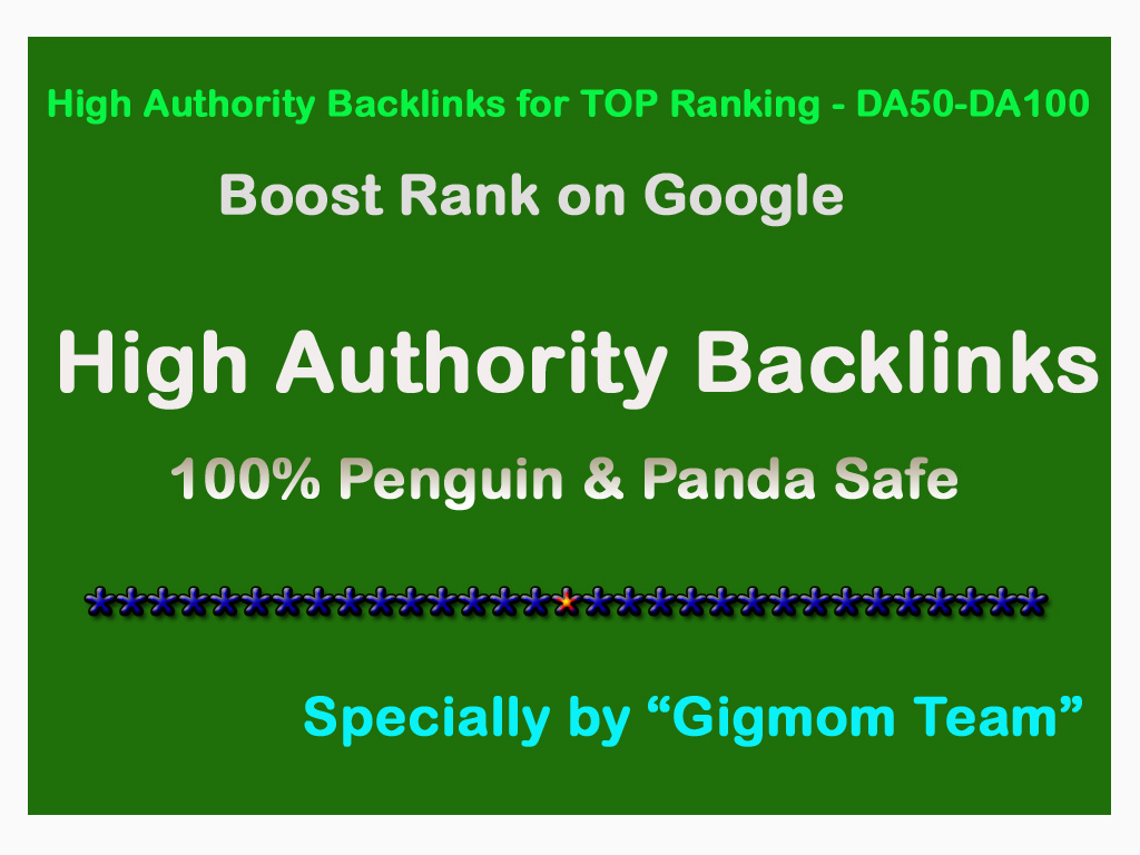 Create Manually 200 High Authority Backlinks for TOP Ranking - DA50-DA100