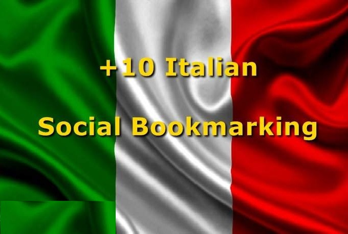 submit URL to 10 Italian Social Bookmarking Sites with Bonus