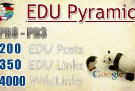 create a super edu pyramid with 60 seo edu backlinks.