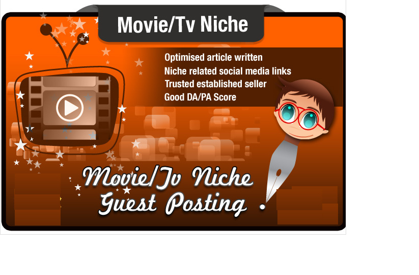 write and Guest Post an Optimised Article on a 6YR old MOVIE Niche Site