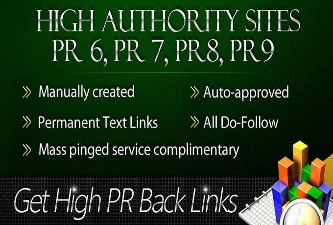 HIGH POWERED EXTRA s create 132+ DOFOLLOW High PR2-PR7 Highly Permited Google Dominating BACKLINKS