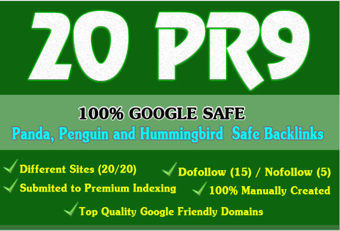 Manually Create 20 PR9 Safe SEO High Pr Backlinks From Trusted Sites To Boost Your SEO