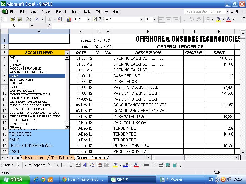 smart and simple accounting software spreadsheet