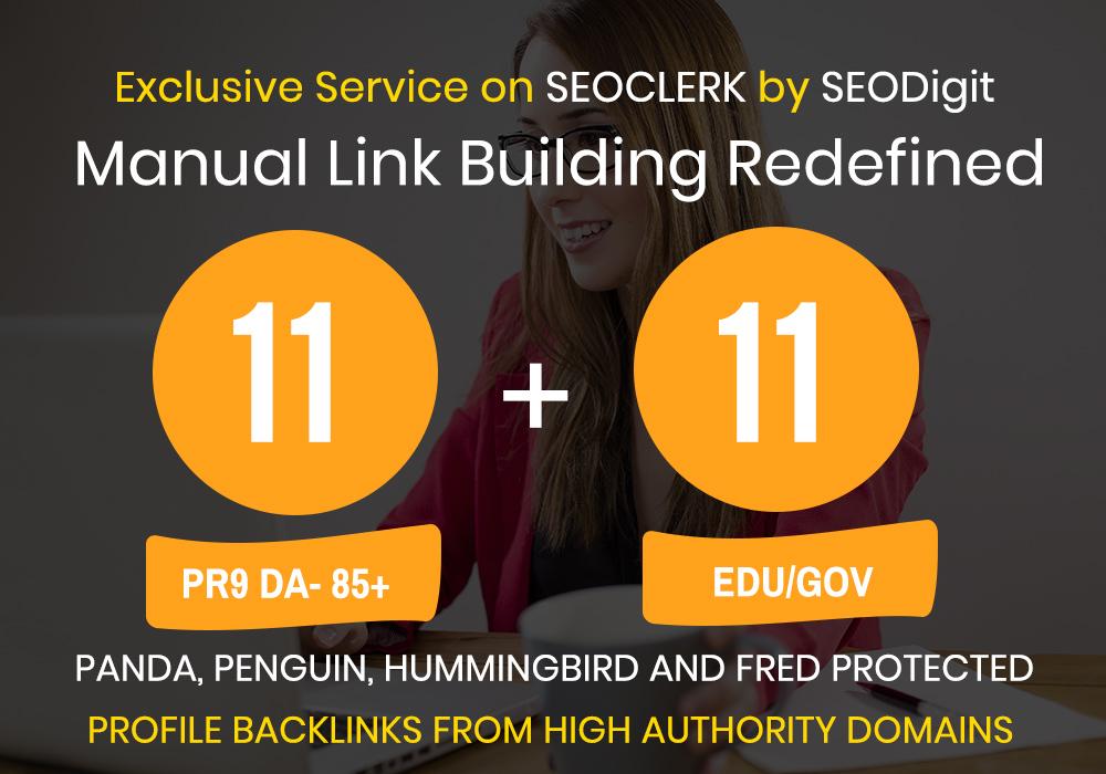 11 High PR9+ 11 High DA EDU-GOV Backlinks 1 Hours exp...