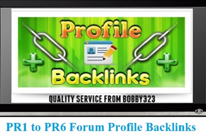 I will manually create PR6 to PR2 high quality 250 forum profile backlinks
