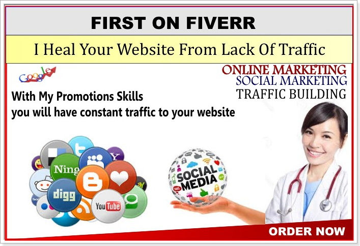 I will heal your WEBSITE from lack of traffic for