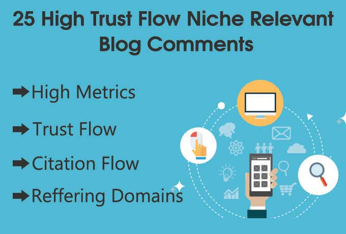 Offer 25 high da,  tf Niche relevant Blog comments backlinks + Guaranteed Serp in 30 Days