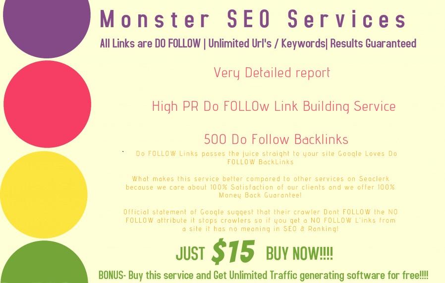 Build 500 DO FOLLOW Backlinks TO SKYROCKET Your Rankings