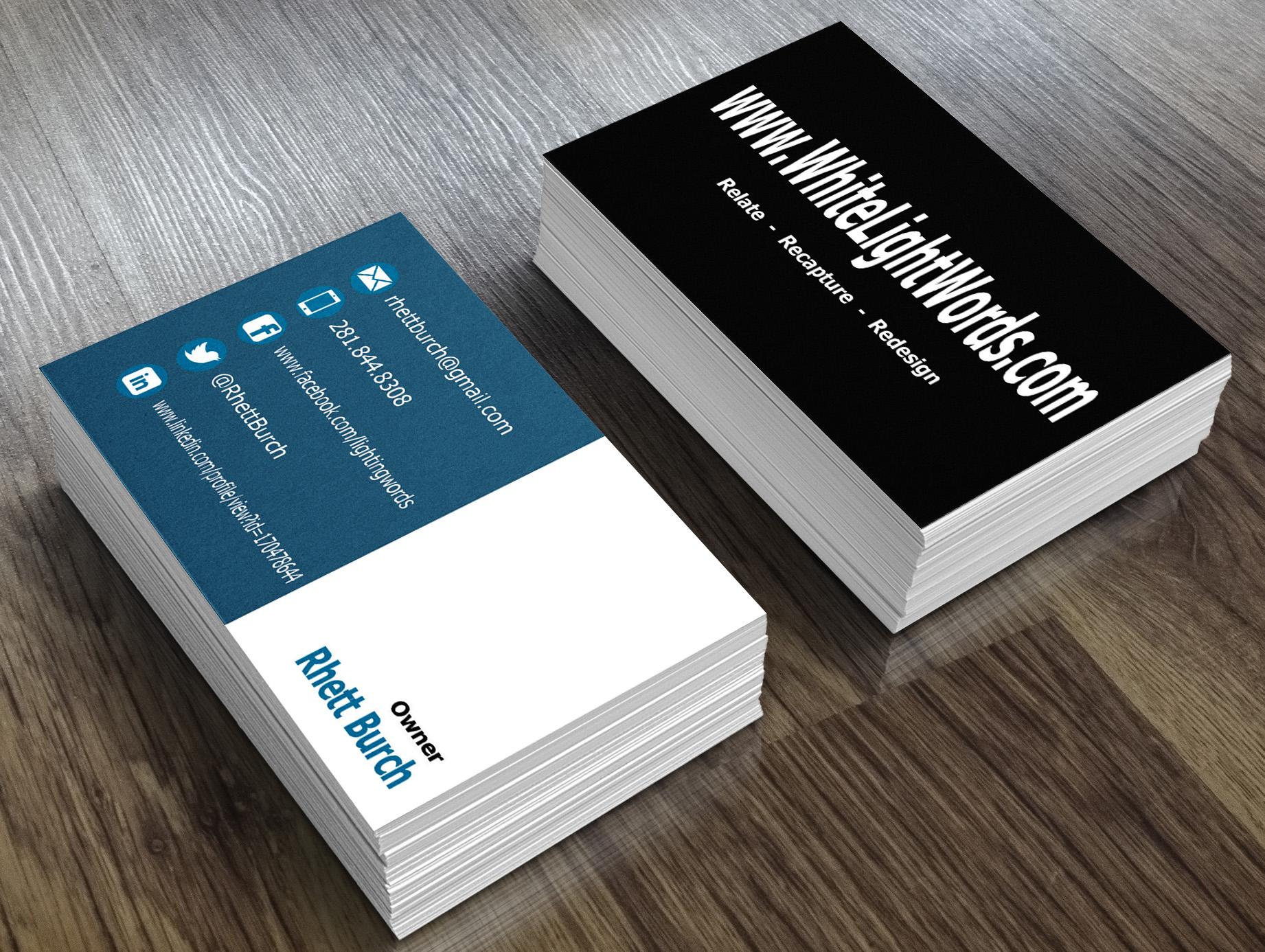 I Will Create Minimalist Business Card for $30 SEOClerks