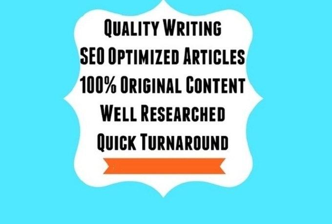 I will write a Unique 600 Word ARTICLE