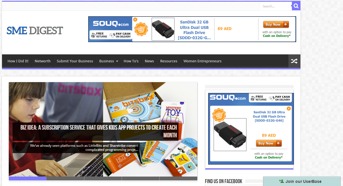Place Your Banner AD on Small Business Website