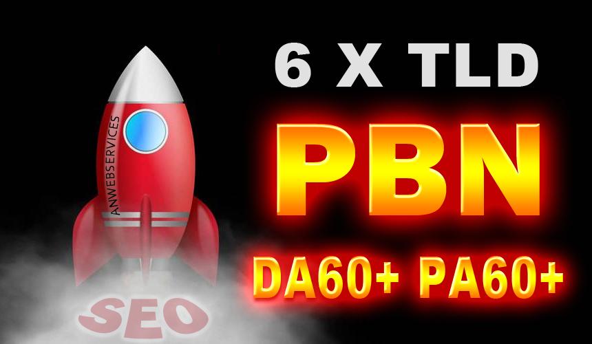 6 High DA PA PBN Contextual Backlinks On DA/PA 60+ TLD Blogs