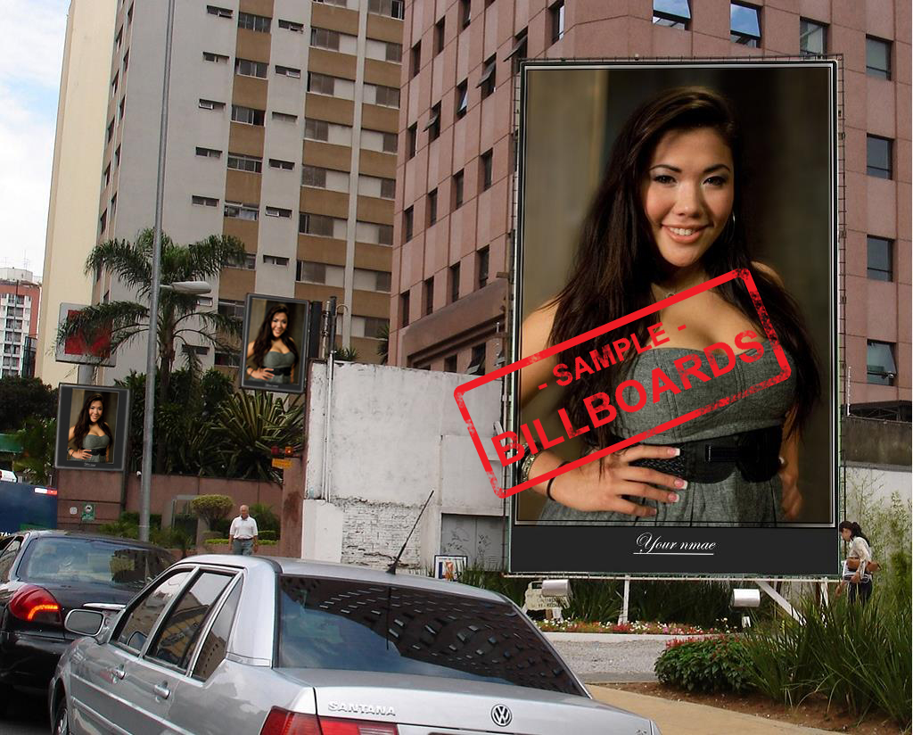 I will put your photos on 10 BILLBOARDS city posters