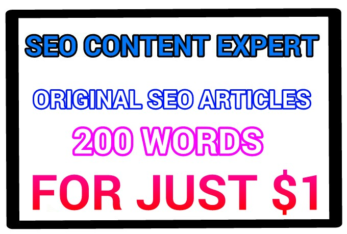 I WILL CRAFT 2 QUALITY SEO ARTICLES OF 200 WORDS EACH