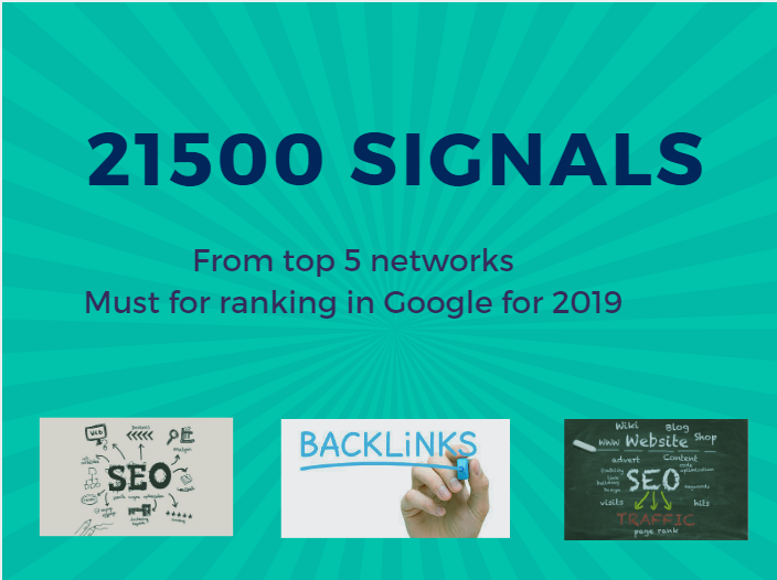 21 500 quality social signals from 3 networks