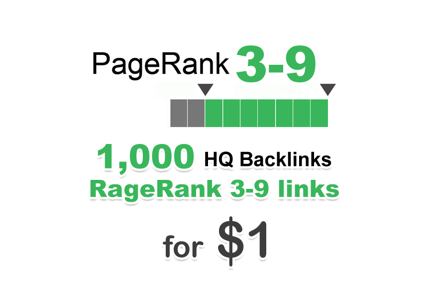 1000 PR 3-9 backlinks
