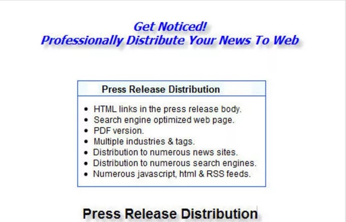 submit Press Release with Google News Option