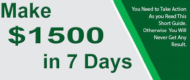 Make 1500 in 7 Days eBook