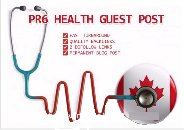 do Guest Post in Canadian PR6 Health Blog for $13