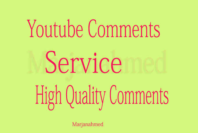 50+ youtube comments within 24 hours only