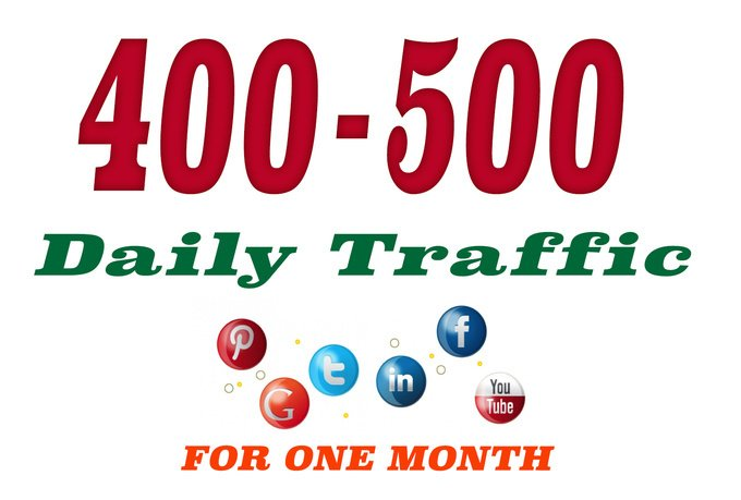 400 to 500 daily traffic REAL visitors for one month for 8