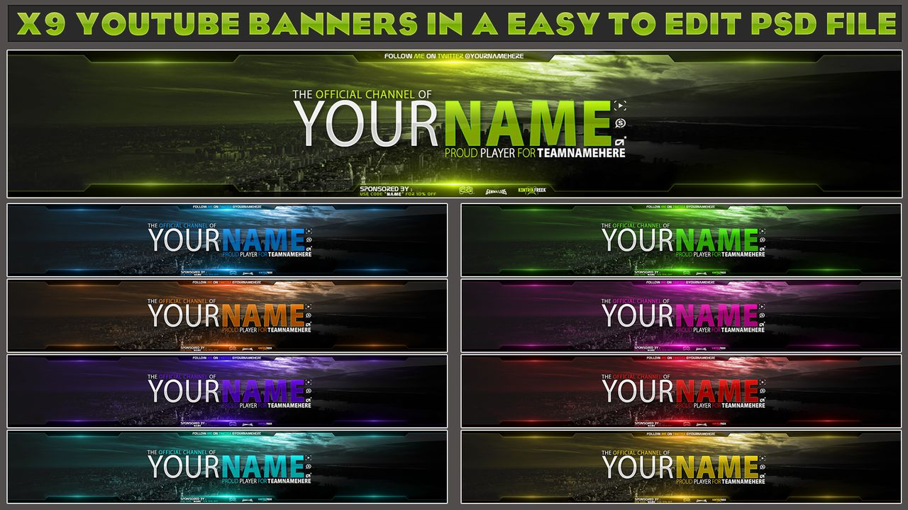 Make You A Youtube Banner And Matching Logo for $3 - SEOClerks