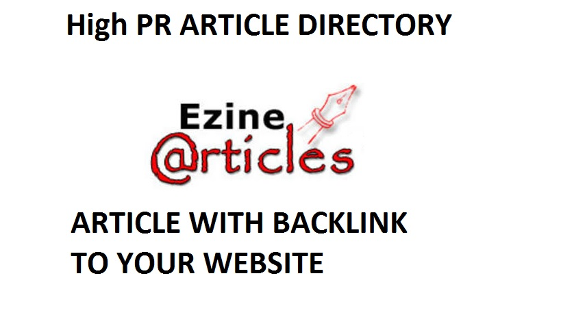 Write a 400+ word article and get it approved on Ezine Article Directory with Backlinks to Your Site