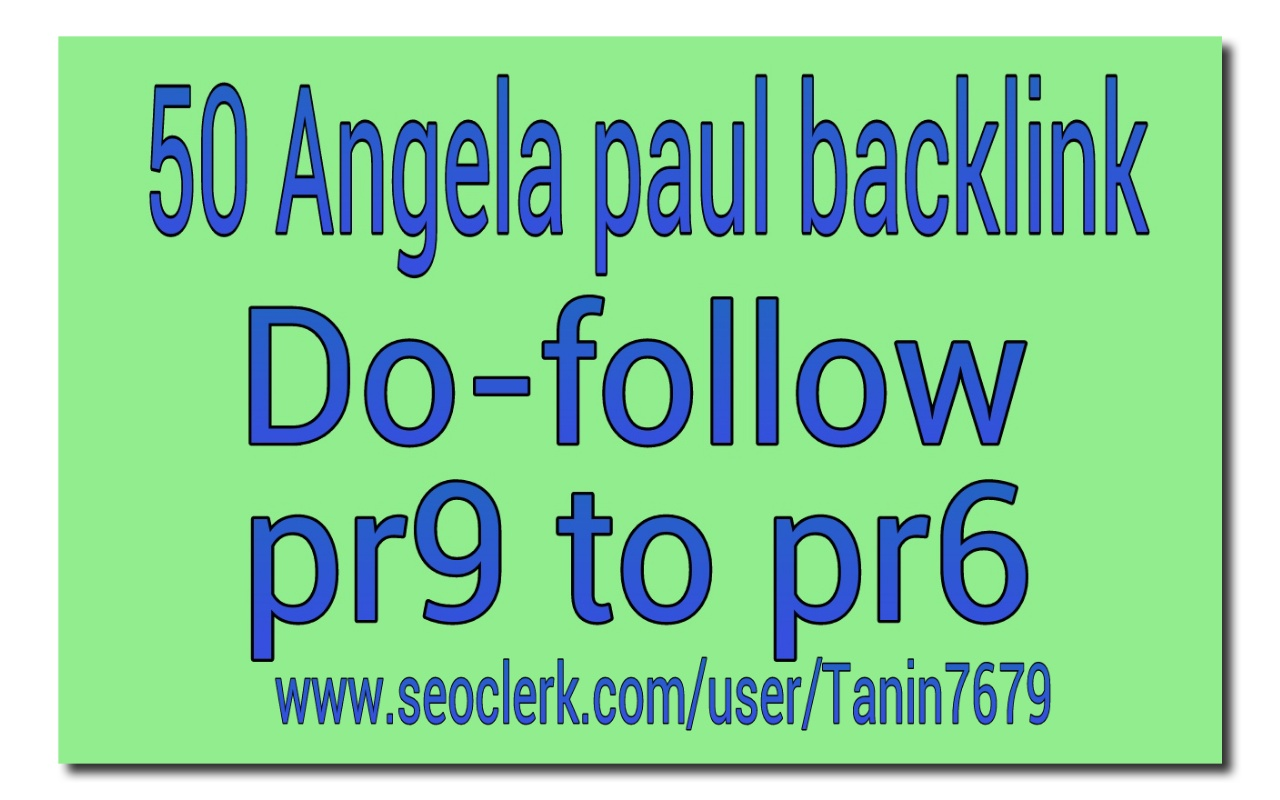 submit 50 pr9 to pr6 angela paul profile backlink