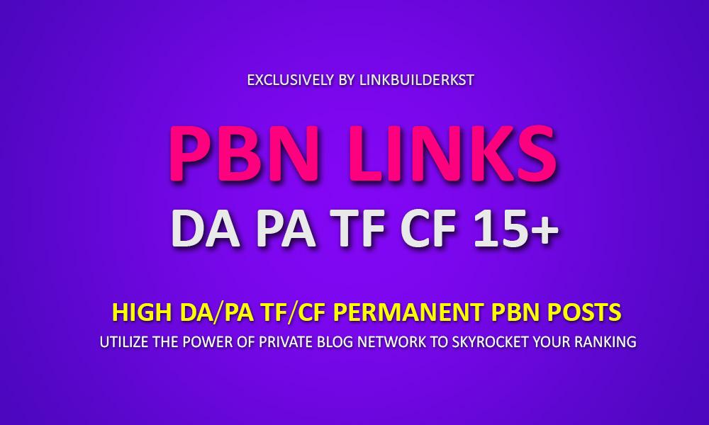Powerful Homepage PBN Posts - TF/CF PA/DA 15+