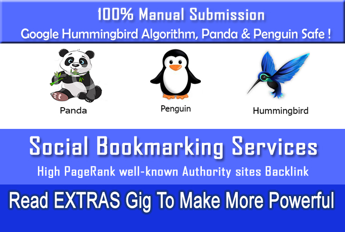 i will do Social bookmarking submission Manually to 1...
