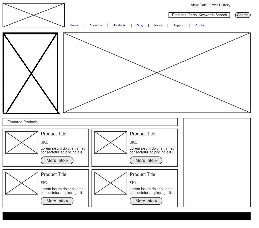 I will design wireframe for websites