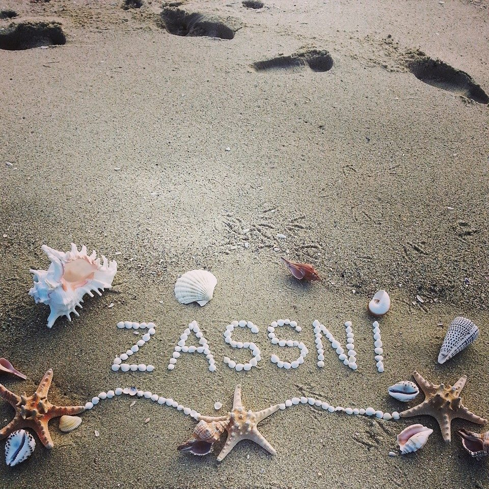 Your amazing text with shells on the beach