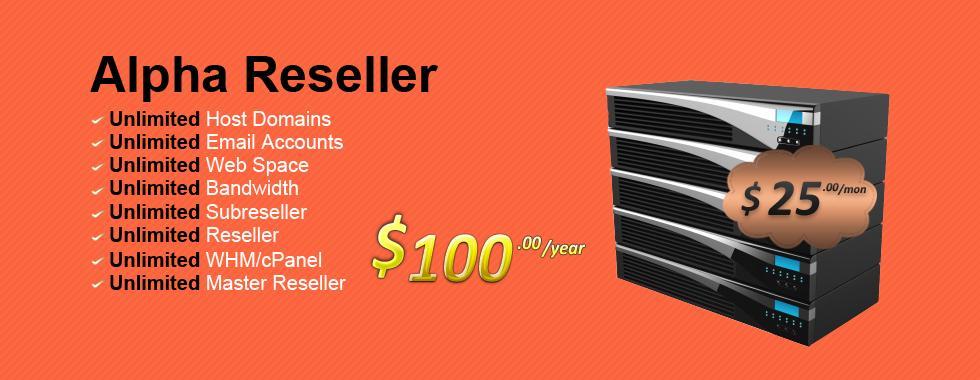 Alpha Master Reseller Hosting With Unlimited Cpanel + Reseller + Master Reseller Creation (6 Month)