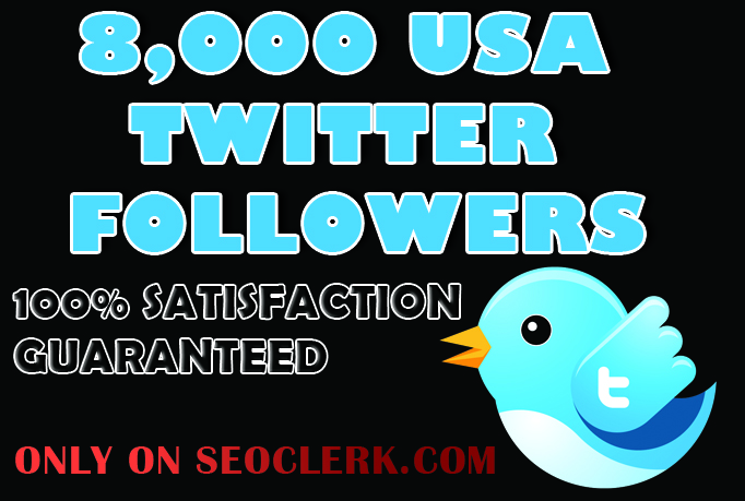 Unique 8,000 USA Twitter Followers for $6 - SEOClerks