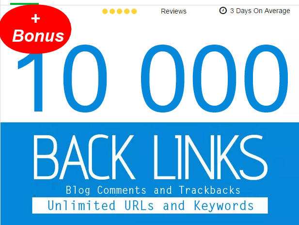 post 10,005 Blogs Comments,  Backlinks,  first page google