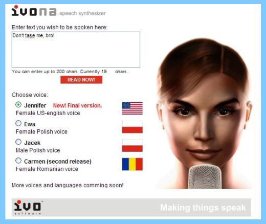 Convert Text-to-Ivona Voice Speech for $5
