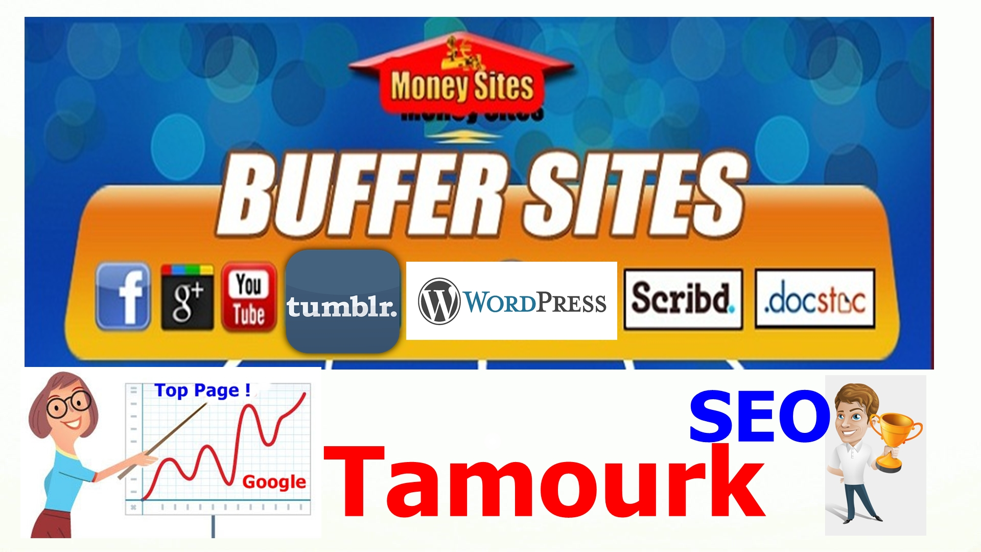 Manually create 10 Buffer sites from High PR Web 2.0 Properties + 2000 Tier 2 Social Bookmarks