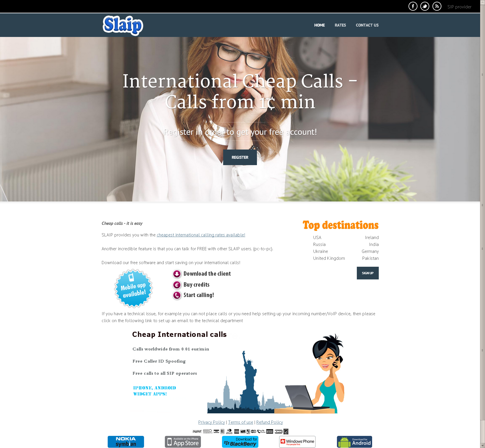Website for corporate company