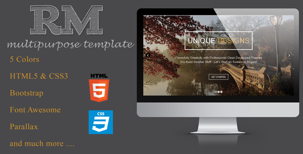 One Page Responsive multipage template
