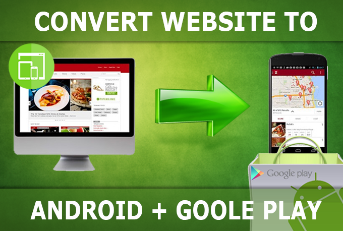 I will convert website to ANDROID app,  then publish it on Playstore