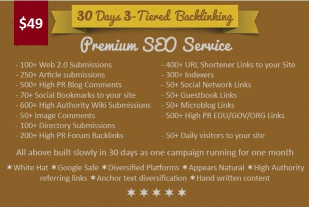 Premium Seo Service For 30 days. Guarantee Top in Google