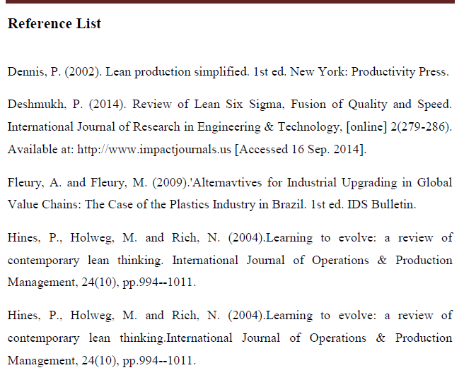 Oxford system bibliography