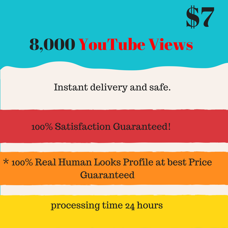 Super fastest 8,000 youtube viewers
