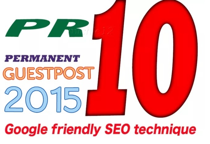 add a PAGERANK 10 guest post