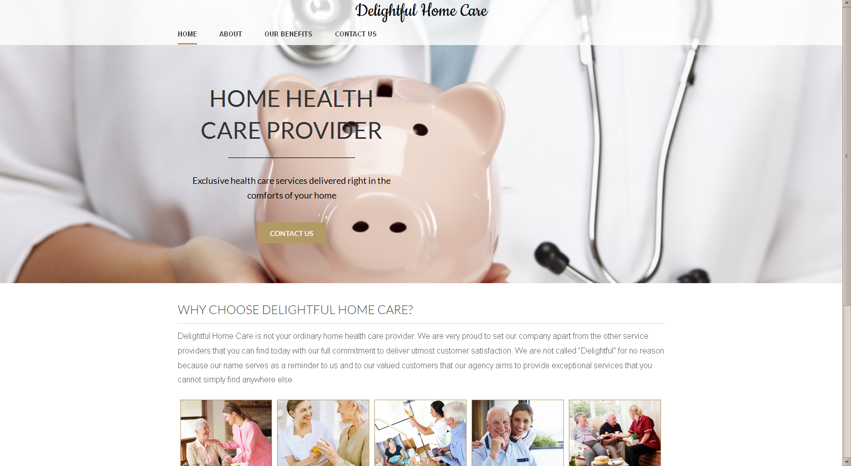 Corporate theme. Design for Home care company